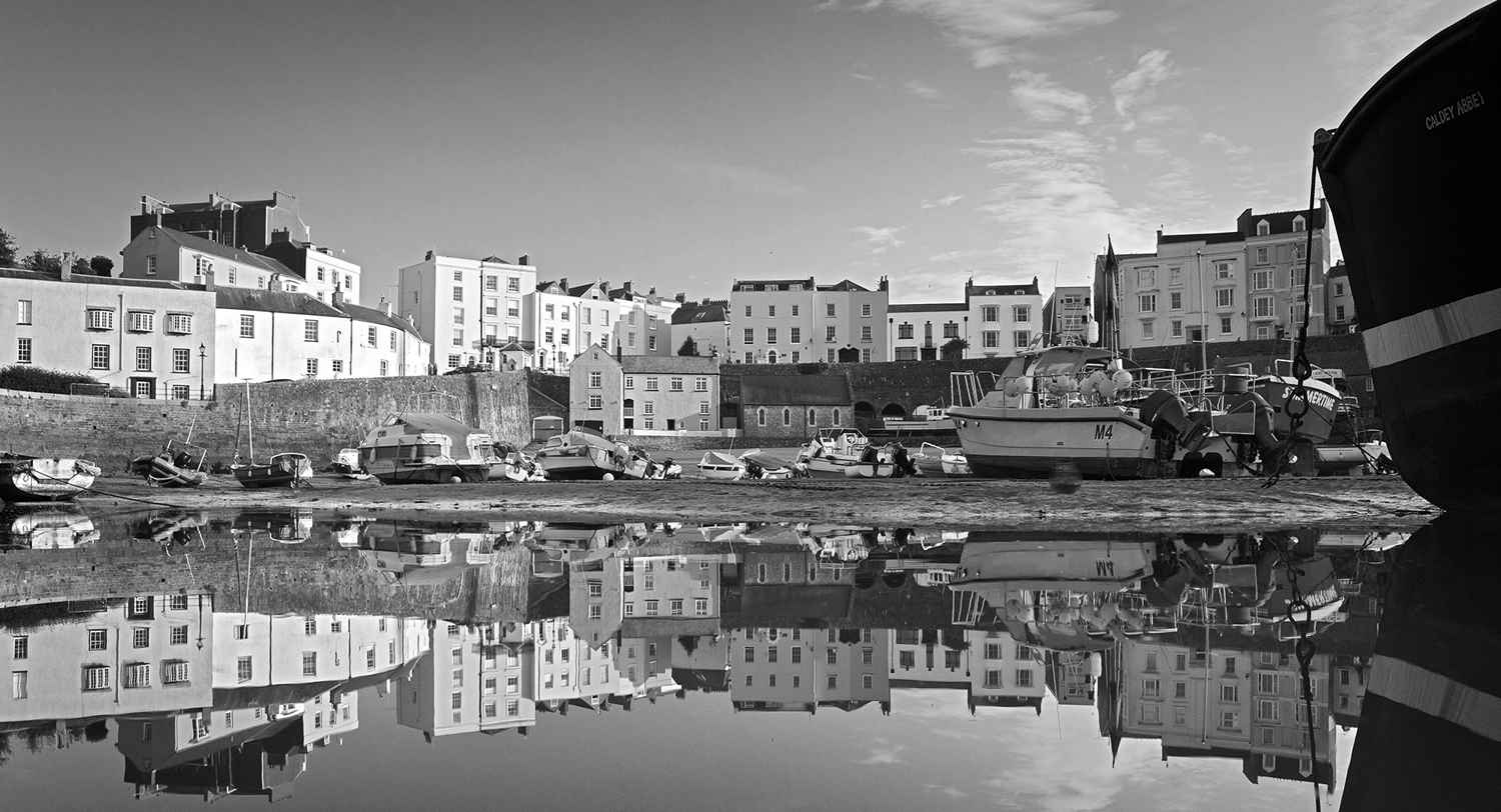 Tenby town harbour