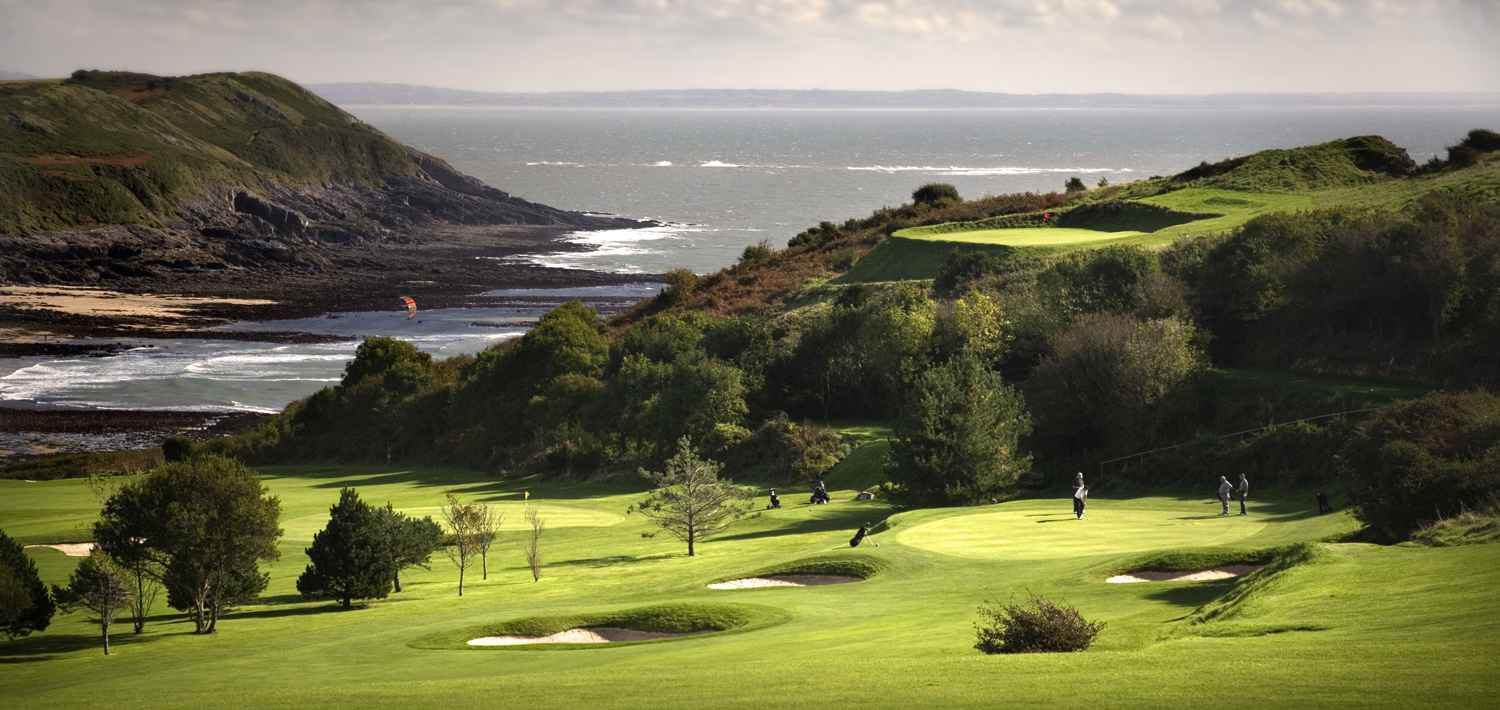Langland Bay golf course, Gower, Swansea